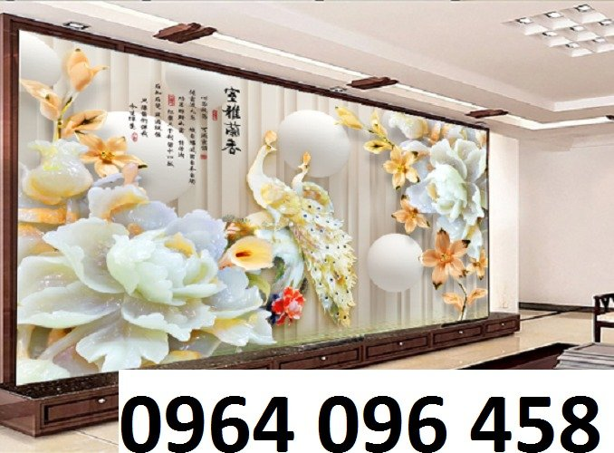 Tranh 3d trang trí tường phong ngủ - SXGD35