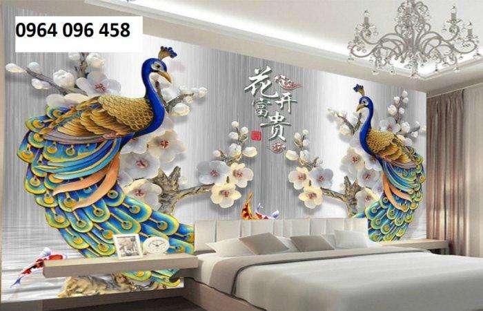 Tranh 3d trang trí tường phong ngủ - SXGD32