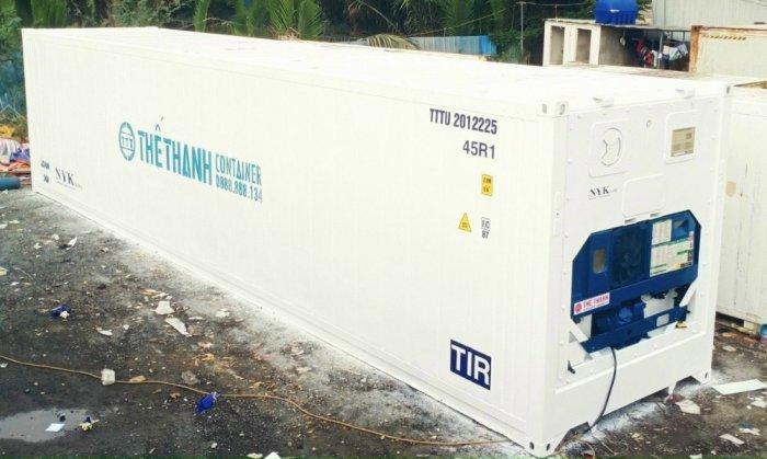 Thùng container lạnh 40feet chứa thực phẩm0