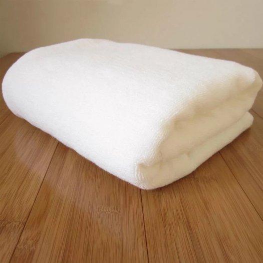 10 chiếc khăn tắm 70 x 140 cm x 500g cotton trắng trơn không in logo0