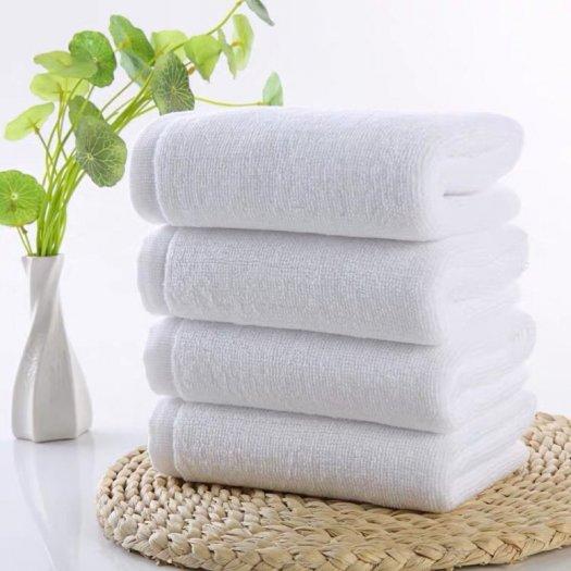 10 chiếc khăn tắm 70 x 140 cm x 500g cotton trắng trơn không in logo1
