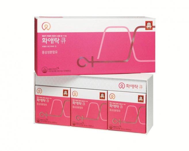 Viên hồng sâm dành cho phụ nữ  HWA AE RAK Q 500mgx120 viên1