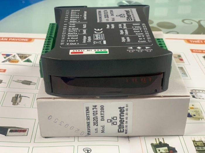 Đầu cân điện tử DAT200 Ethernet, xuất xứ : Pavone - Italy. Giá Tốt 20215