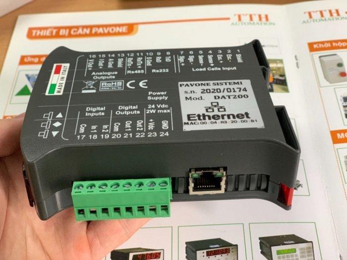 Đầu cân điện tử DAT200 Ethernet, xuất xứ : Pavone - Italy. Giá Tốt 20212