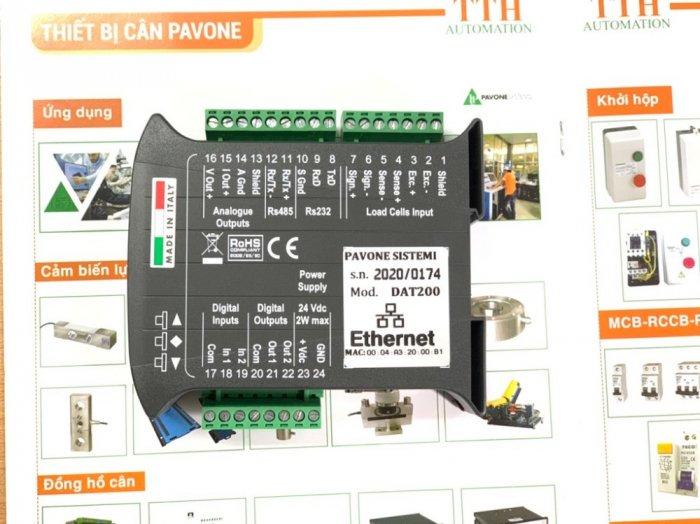 Đầu cân điện tử DAT200 Ethernet, xuất xứ : Pavone - Italy. Giá Tốt 20211