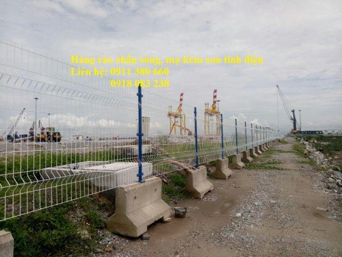 Hàng rào lưới thép hàn chấn sóng, mạ kẽm sơn tĩnh điện- Nhật Minh Hiếu1