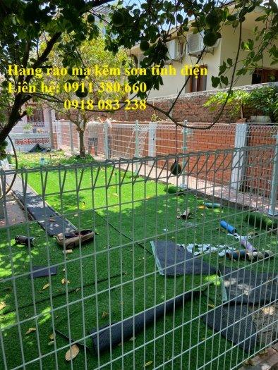 Hàng rào lưới thép hàn chấn sóng, mạ kẽm sơn tĩnh điện- Nhật Minh Hiếu0
