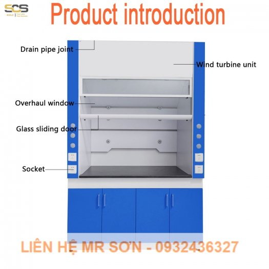 Tủ hút khí độc kích thước 1500MM5