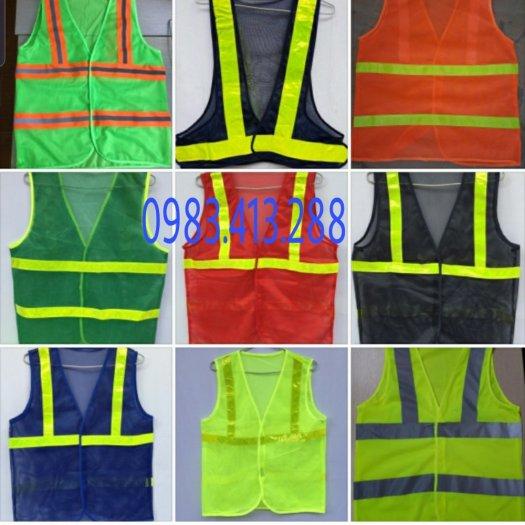Combo 100 áo lưới phản quang công  nhân giá rẻ0