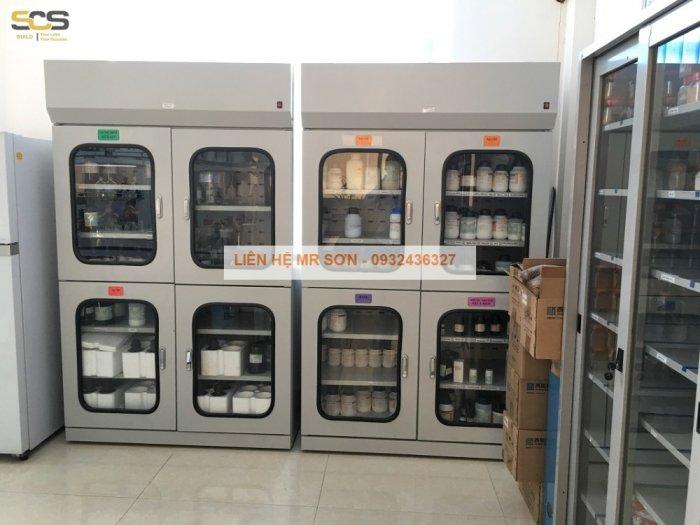 Giá tủ đựng hóa chất có lọc hấp thu kích thước 900mm3