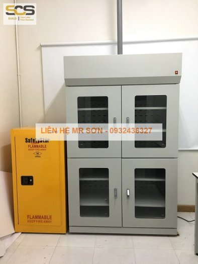 Giá tủ đựng hóa chất có lọc hấp thu kích thước 900mm0