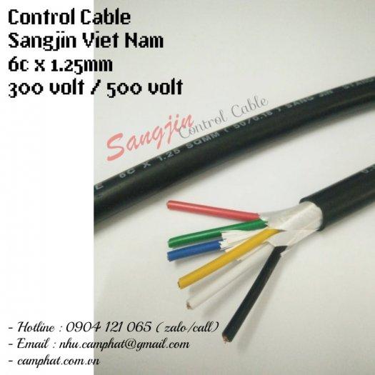 Cáp điều khiển Sangjin (ISO 9011) 6c x 1.25 SQMM Standard of Korea3