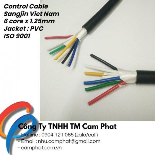 Cáp điều khiển Sangjin (ISO 9011) 6c x 1.25 SQMM Standard of Korea1