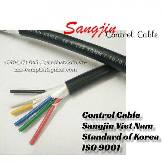 Cáp điều khiển Sangjin (ISO 9011) 6c x 1.25 SQMM Standard of Korea0