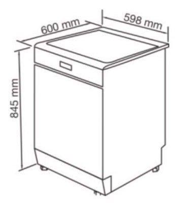 Máy rửa chén nhập khẩu từ Đức FEUER GB15883