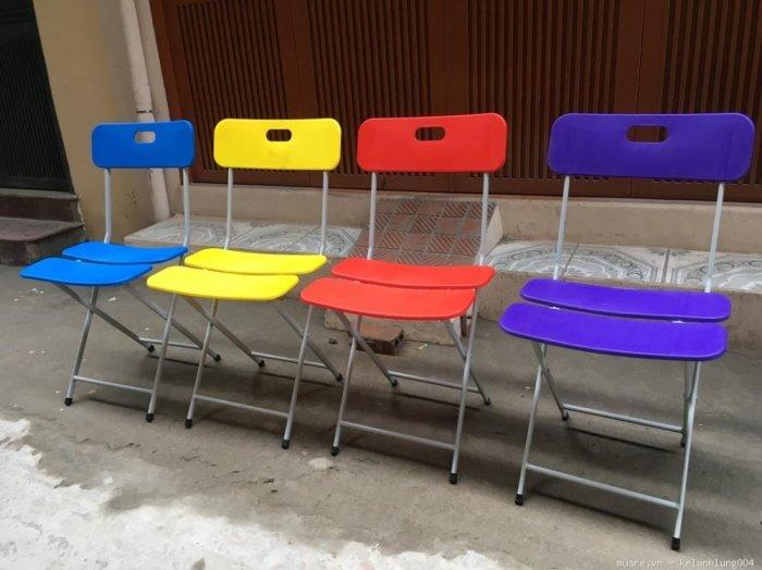 Ghế xếp ba lá có đủ màu giá sỉ tại xưởng sản xuất anh khoa 12220