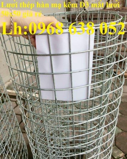 Lưới mạ kẽm hàn ô vuông 50x50 dây 2mm khổ 1mx30m và 1.2mx30m hàng có sẵn15