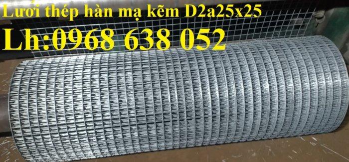 Sản xuất lưới thép hàn mạ kẽm dây 2ly, 2.5ly, 3ly, 4ly  ô lưới 50x50mm dạng tấm, cuộn giá sỉ26
