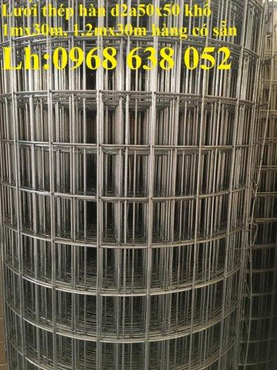 Sản xuất lưới thép hàn mạ kẽm dây 2ly, 2.5ly, 3ly, 4ly  ô lưới 50x50mm dạng tấm, cuộn giá sỉ16
