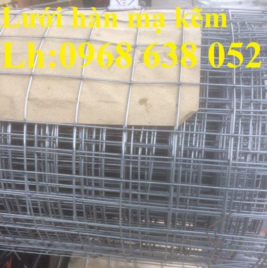 Sản xuất lưới thép hàn mạ kẽm dây 2ly, 2.5ly, 3ly, 4ly  ô lưới 50x50mm dạng tấm, cuộn giá sỉ12