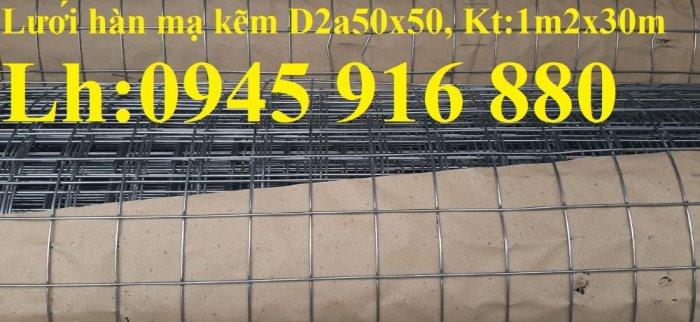 Sản xuất lưới thép hàn mạ kẽm dây 2ly, 2.5ly, 3ly, 4ly  ô lưới 50x50mm dạng tấm, cuộn giá sỉ10