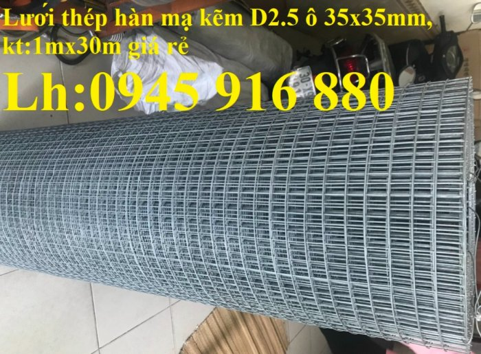 Sản xuất lưới thép hàn mạ kẽm dây 2ly, 2.5ly, 3ly, 4ly  ô lưới 50x50mm dạng tấm, cuộn giá sỉ6