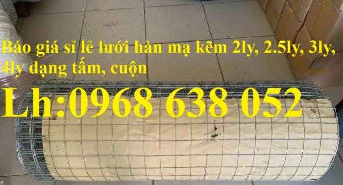 Sản xuất lưới thép hàn mạ kẽm dây 2ly, 2.5ly, 3ly, 4ly  ô lưới 50x50mm dạng tấm, cuộn giá sỉ5