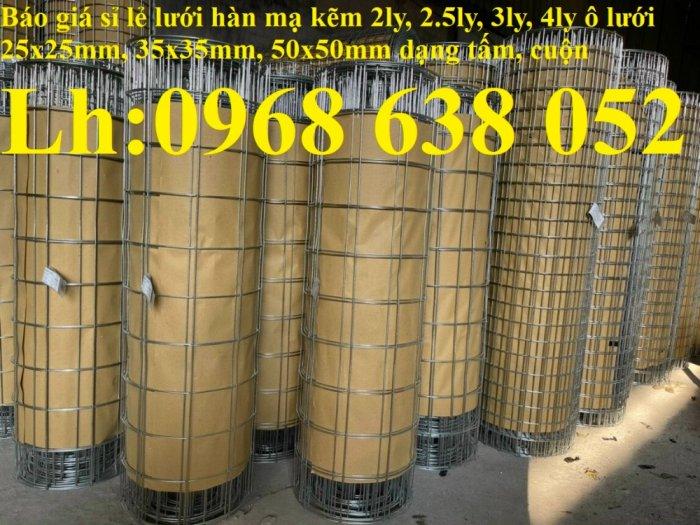 Sản xuất lưới thép hàn mạ kẽm dây 2ly, 2.5ly, 3ly, 4ly  ô lưới 50x50mm dạng tấm, cuộn giá sỉ4