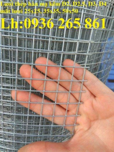 Sản xuất lưới thép hàn mạ kẽm dây 2ly, 2.5ly, 3ly, 4ly  ô lưới 50x50mm dạng tấm, cuộn giá sỉ1