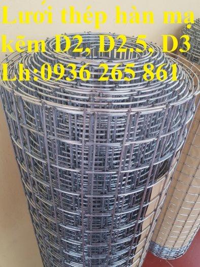 Sản xuất lưới thép hàn mạ kẽm dây 2ly, 2.5ly, 3ly, 4ly  ô lưới 50x50mm dạng tấm, cuộn giá sỉ0