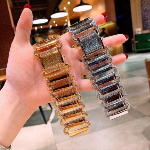 Đồng hồ nữ cao cấp gess bảng chữ Nhật dây kim loại TPH 3532