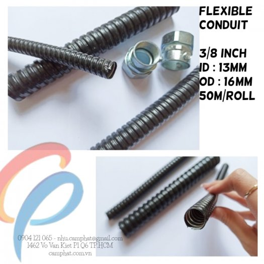 FLEXIBLE CONDUIT 3/8 inch bọc nhưa PVC (D16)2