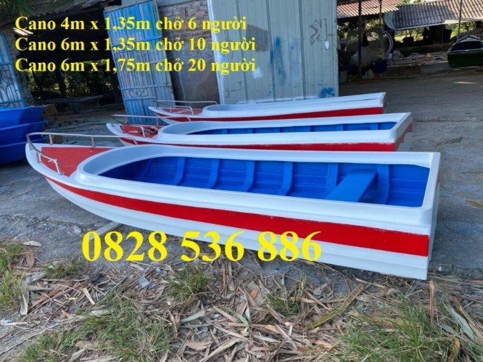 Thuyền chèo tay cho 3 người, Thuyền composite chở 4-5 người, Thuyền cano chở 6 người6