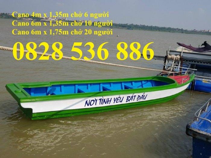 Thuyền chèo tay cho 3 người, Thuyền composite chở 4-5 người, Thuyền cano chở 6 người5