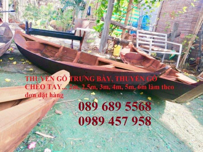 Thuyền gỗ 3m trưng bày nhà hàng, Xuồng gỗ trưng hải sản tại Sài Gòn15