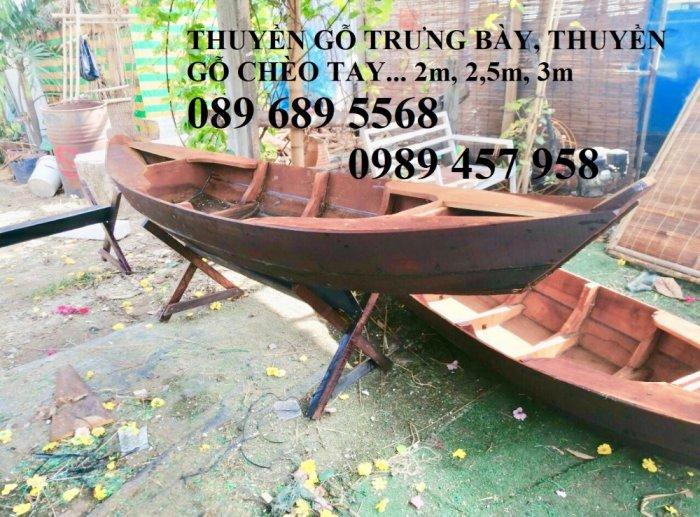 Thuyền gỗ 3m trưng bày nhà hàng, Xuồng gỗ trưng hải sản tại Sài Gòn14