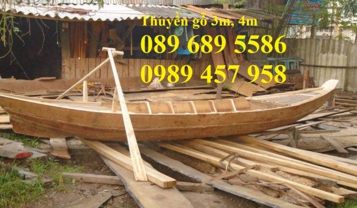 Thuyền gỗ 3m trưng bày nhà hàng, Xuồng gỗ trưng hải sản tại Sài Gòn13