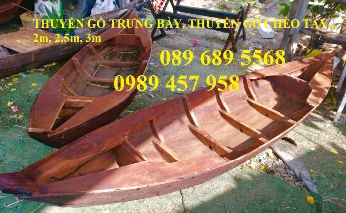Thuyền gỗ 3m trưng bày nhà hàng, Xuồng gỗ trưng hải sản tại Sài Gòn6