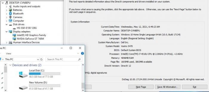 Laptop Dell Vostro 5470 Core i7-4510U Ram 4GB SSD 128GB Máy Đẹp 2 CARD VGA Rời Màn 14 Inch Máy Đẹp0