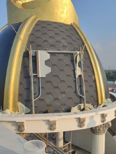 Ngói lợp nhà cao cấp nhập khẩu 3D cho mái, tấm lợp bitum rắc đá màu4