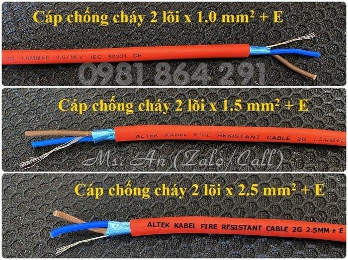Dây cáp chống cháy 2 lõi 2x1.0/2x1.5/2x2.5mm2 + Al + E, tiêu chuẩn CE4