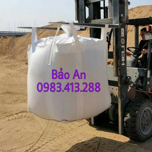 Bao jumbo cẩu hàng 1 tấn, bao tải cẩu 4 quai xả đáy hoặc đáy liền4