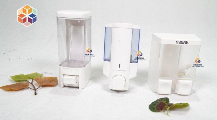 Bình nước rửa tay gắn tường, bình đựng xà bông svavo cao cấp4