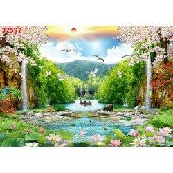 Gạch tranh phong cảnh - Bắc Ninh0