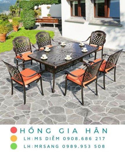 Nội thất nhôm đúc Hoàng Gia cho Villa, Resort Hồng Gia Hân A1190