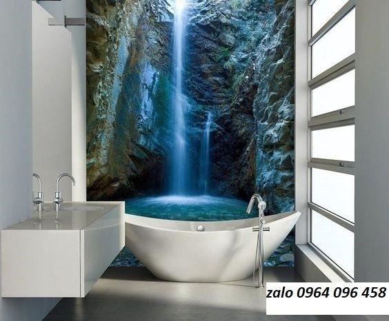 Tranh gạch 3d ốp tường phòng tắm - GCX210