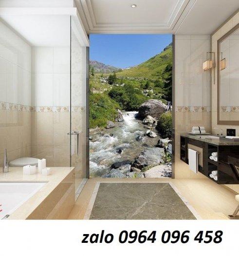 Tranh gạch 3d ốp tường phòng tắm - GCX25