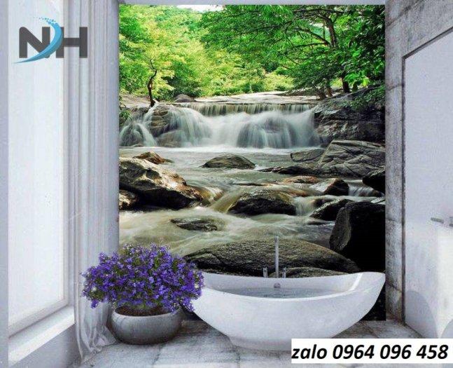 Tranh gạch 3d ốp tường phòng tắm - GCX24
