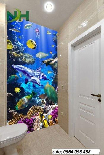 Tranh gạch 3d ốp tường phòng tắm - GCX23