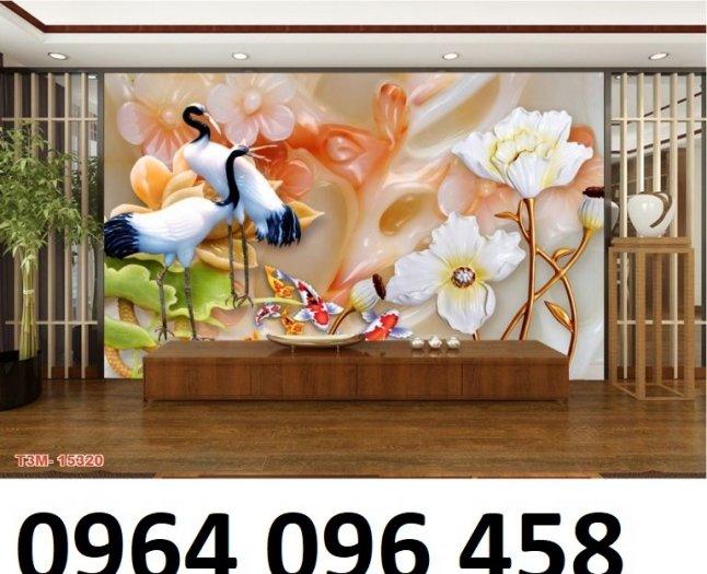 Chọn tranh gạch 3d phong thủy phòng khách - NV413